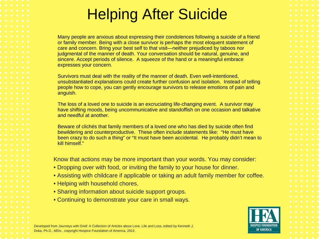 grief and loss after suicide